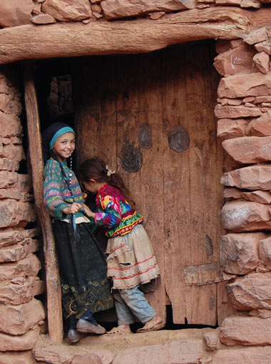 Berber Girls in the High Atlas Mountains