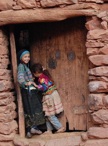 Berber Girls in the High Atlas Mountains