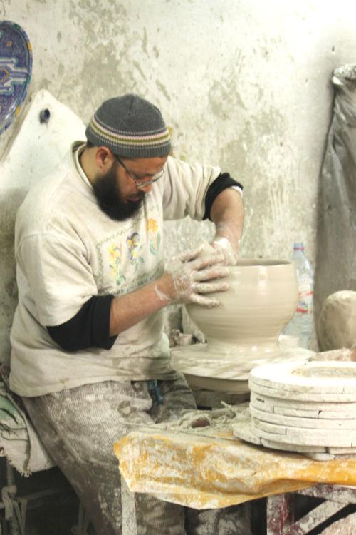 ceramics workshop at Kasbah omar