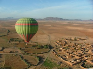 hot air balloon ride in Morocco